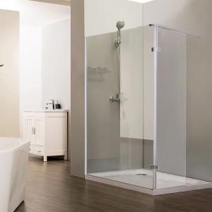 Paroi de douche fixe NEPTA verre 8 mm avec retour - 120+40 x 185cm