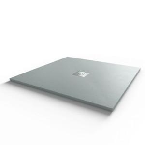 Receveur de douche 90x90 cm extra plat - gris ciment - DIAMANT