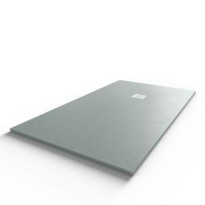 Receveur de douche 160x90 cm extra plat - gris ciment - DIAMANT