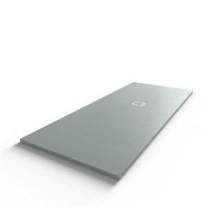 Receveur de douche 170x70 cm extra plat - gris ciment - DIAMANT