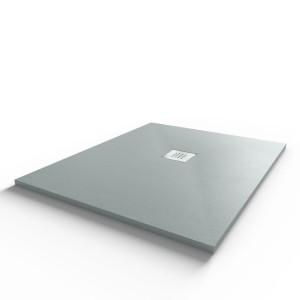 Receveur de douche 100x80 cm extra plat - gris ciment - DIAMANT