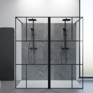 Paroi de douche fixe Atelia verre 8 mm - 190x200 cm
