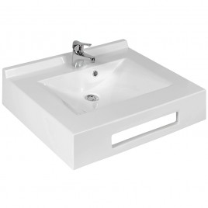 Vasque suspendue carrée EVIDENCE 60 cm - blanc