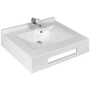 Vasque suspendue carrée EVIDENCE 65 cm - blanc