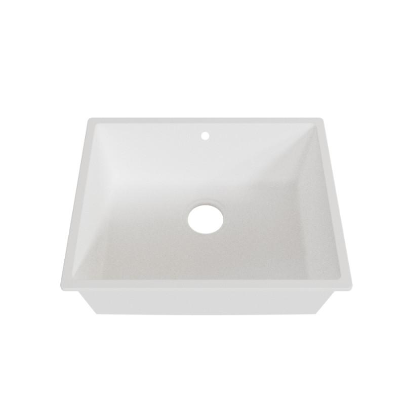 Cuve RESIROC - évier 1 bac sans égouttoir - 54 x 44 cm - Blanc