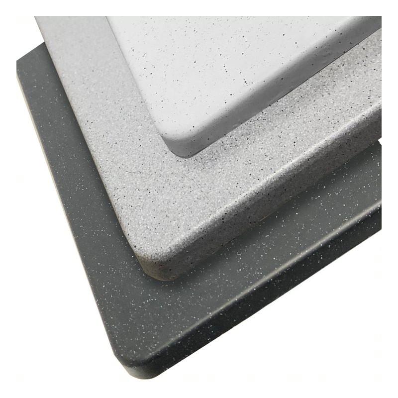 Évier RESIROC avec 2 bacs + égouttoir 118cm - noir