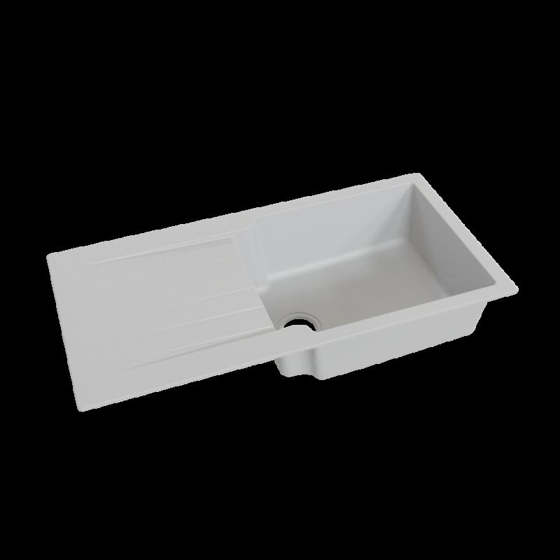 Évier RESIROC avec 1 bac + égouttoir 100cm - gris