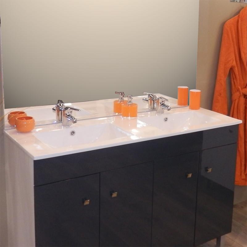 plan double vasque en c ramique c raplan 120 cm cuisibane. Black Bedroom Furniture Sets. Home Design Ideas