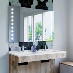 Miroir anti-buée STARLED 120x80 cm - éclairage intégré à LED et interrupteur sensitif