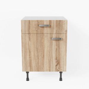 Meuble de cuisine bas - 1 porte + 1 tiroir - 60 cm - Bardolino
