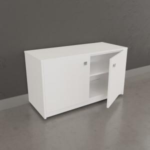 Meuble sur roulette EPURE - 90 cm blanc brillant