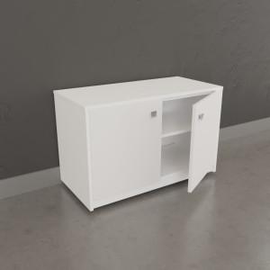 Meuble sur roulette EPURE - 80 cm blanc brillant