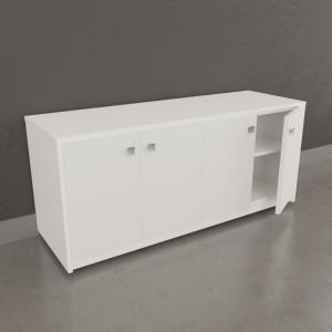 Meuble sur roulette EPURE - 120 cm blanc brillant
