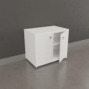Meuble sur roulette EPURE - 70 cm blanc brillant