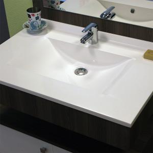 Plan simple vasque en résine de synthèse RÉSIPLAN - 80 cm