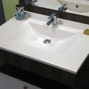 Plan simple vasque en résine de synthèse RÉSIPLAN - 90 cm